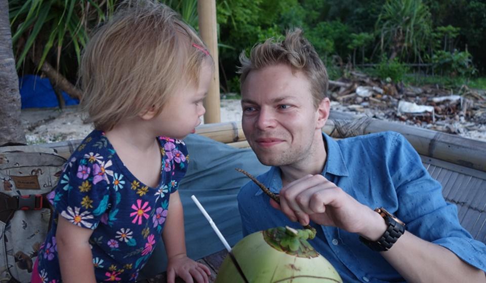 Verse kokosnoot drinken Gili Air