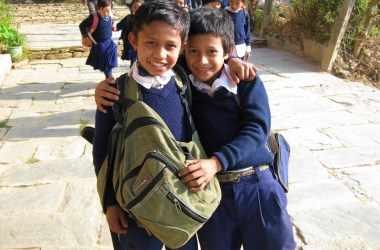 schooljongens Nepal