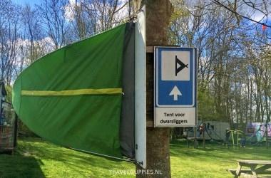 Tent vopor dwarsliggers Heeg