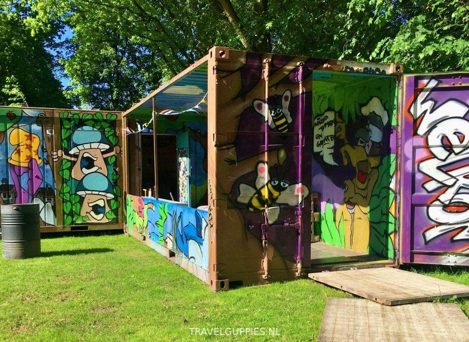 Graffiti zeecontainer