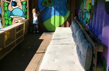 Loungebank Graffiti container
